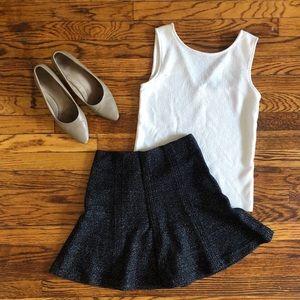 Loft Size XS Tweed Flirty Skirt